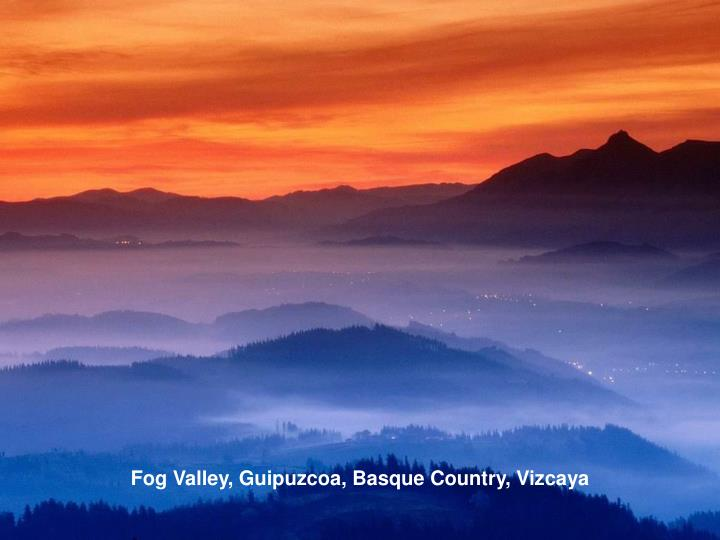 Fog Valley, Guipuzcoa, Basque Country, Vizcaya
