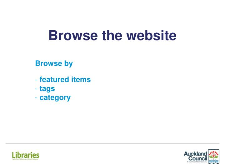 Browse the website