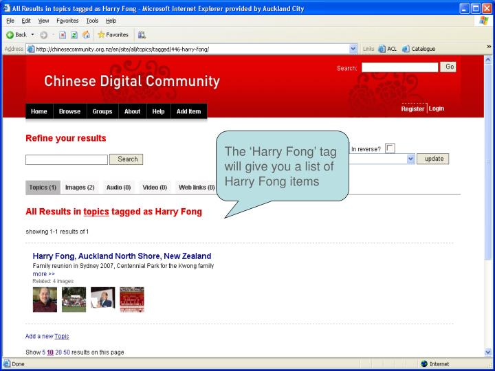 The 'Harry Fong' tag will give you a list of Harry Fong items
