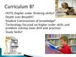 curriculum b