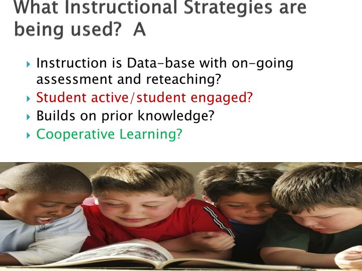 What Instructional Strategies are being used?  A