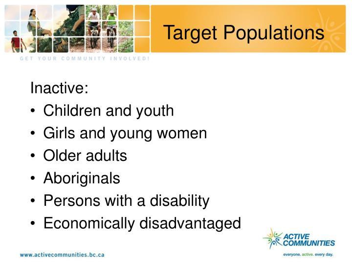 Target Populations