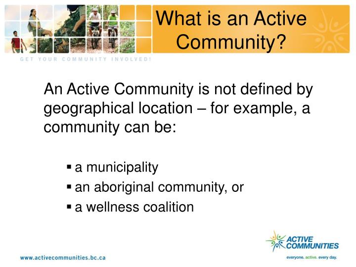 What is an Active Community?