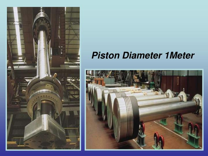 Piston Diameter 1Meter