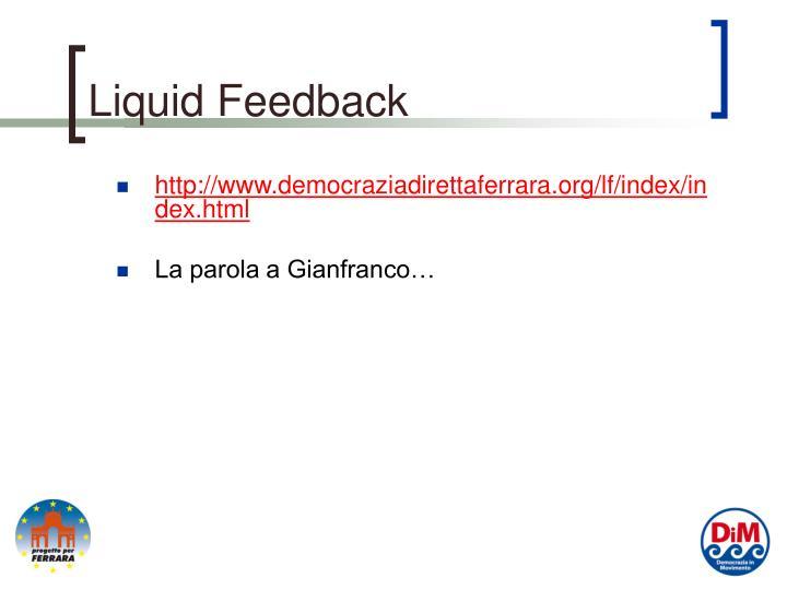 Liquid Feedback