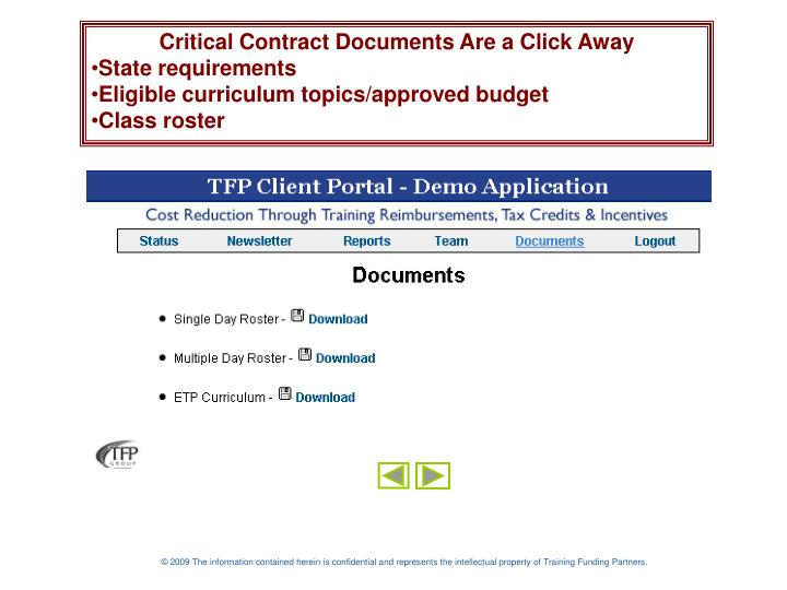 Critical Contract Documents Are a Click Away
