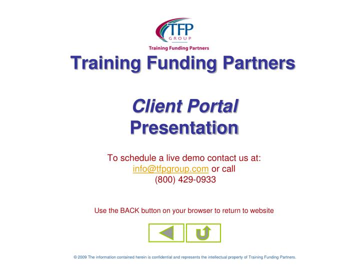 Training Funding Partners