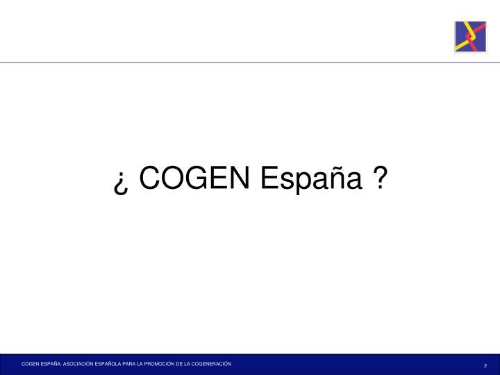 ¿ COGEN España ?