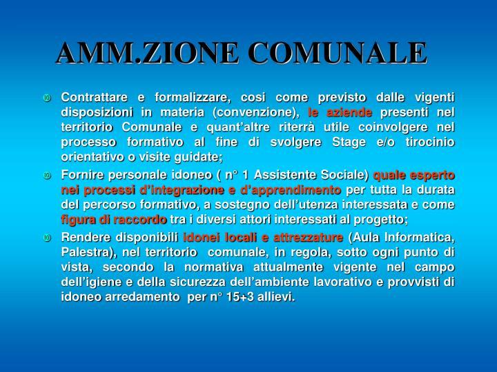 AMM.ZIONE COMUNALE