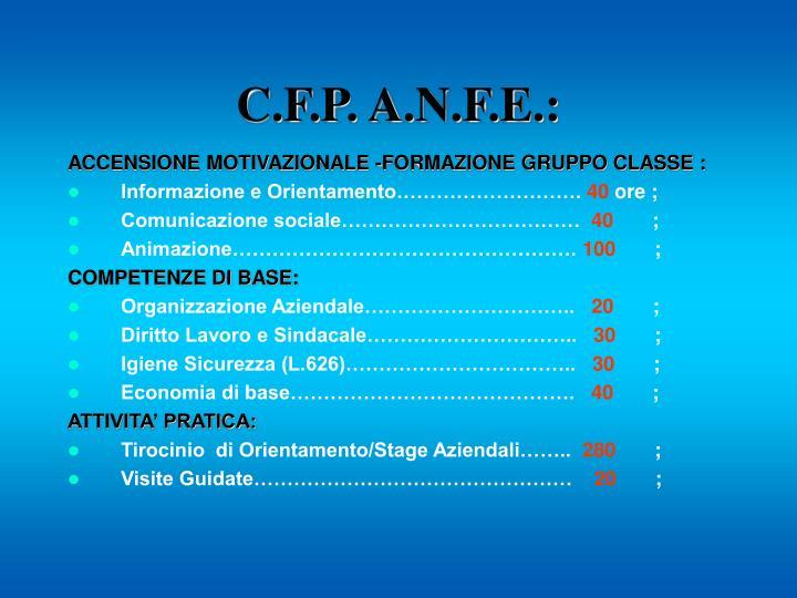 C.F.P. A.N.F.E.: