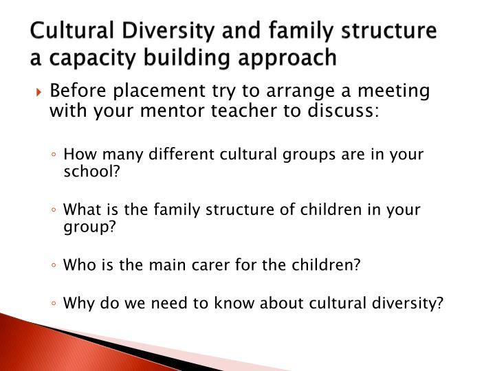 Cultural Diversity and family structure