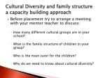 cultural diversity and family structure a capacity building approach2