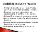 modelling inclusive practice