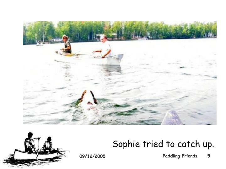 Sophie tried to catch up.