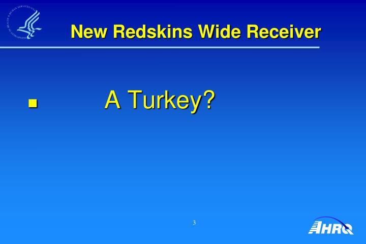 New Redskins Wide Receiver