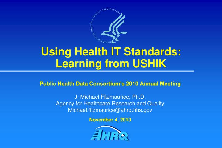 Using Health IT Standards: