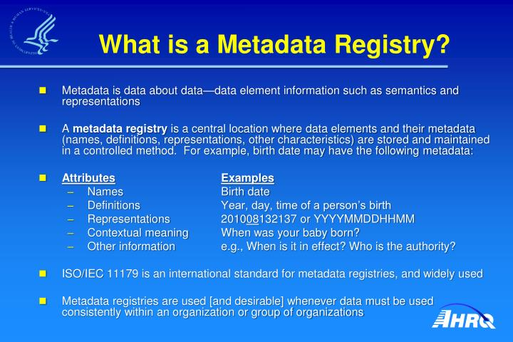What is a Metadata Registry?