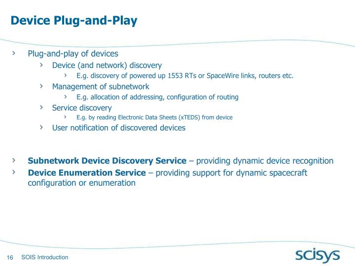 Device Plug-and-Play