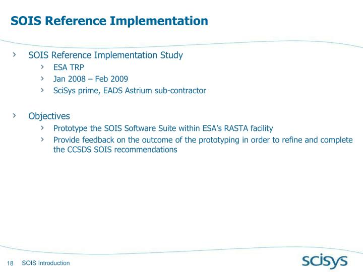 SOIS Reference Implementation
