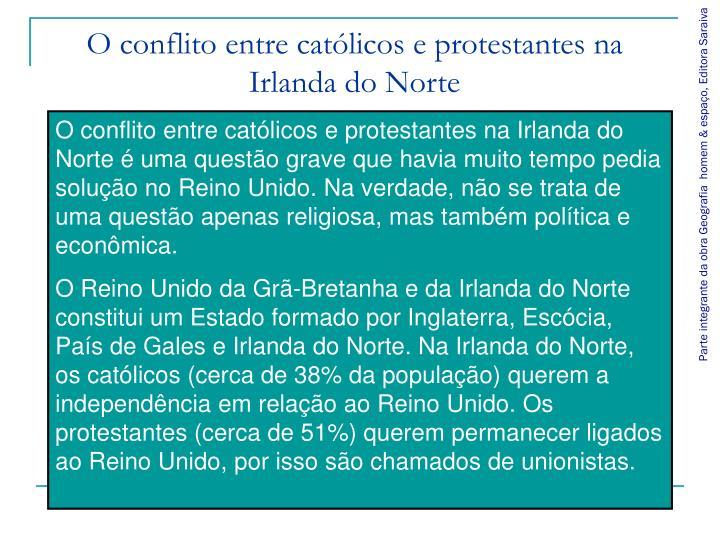 O conflito entre católicos e protestantes na Irlanda do Norte
