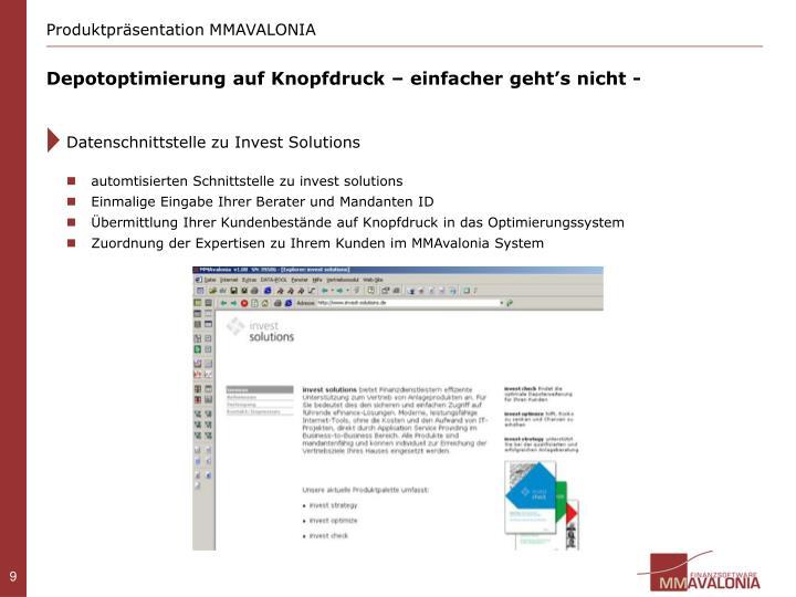 Produktpräsentation MMAVALONIA