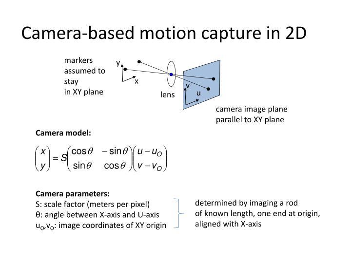 Camera-based motion capture in 2D