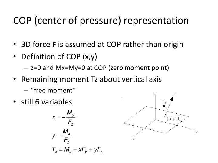 COP (center of pressure) representation