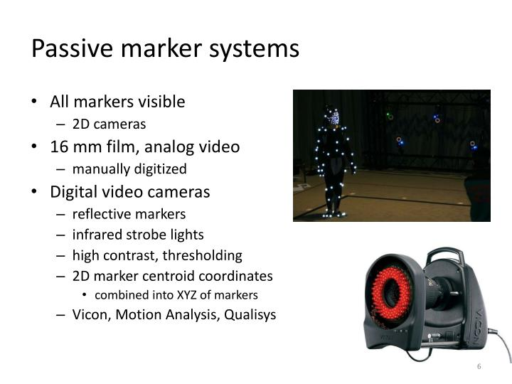 Passive marker systems