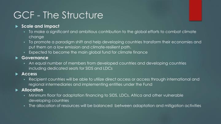 GCF - The Structure