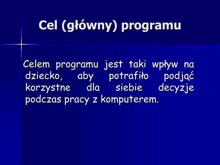 Cel (główny) programu