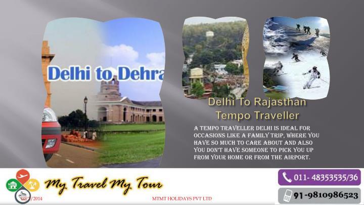 Delhi To Rajasthan Tempo Traveller
