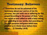 testimony believers1