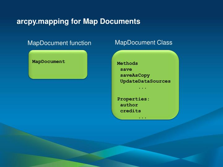 arcpy.mapping for Map Documents