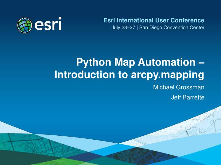 Python map automation introduction to arcpy mapping