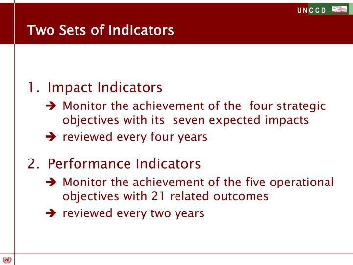 Two Sets of Indicators