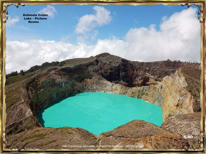 Kelimutu Crater Lake – Picture:  Rosino