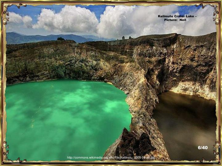 Kelimutu Crater Lake – Picture:  Neil