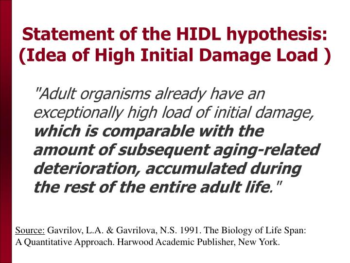Statement of the HIDL hypothesis: