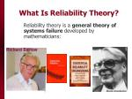 what is reliability theory