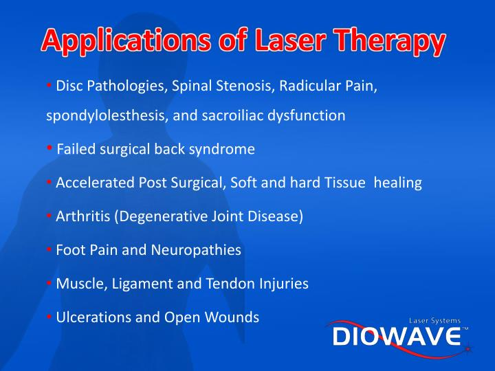 Applications of Laser Therapy