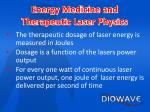 energy medicine and therapeutic laser physics