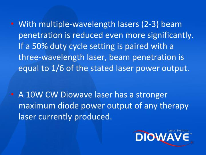 With multiple-wavelength lasers