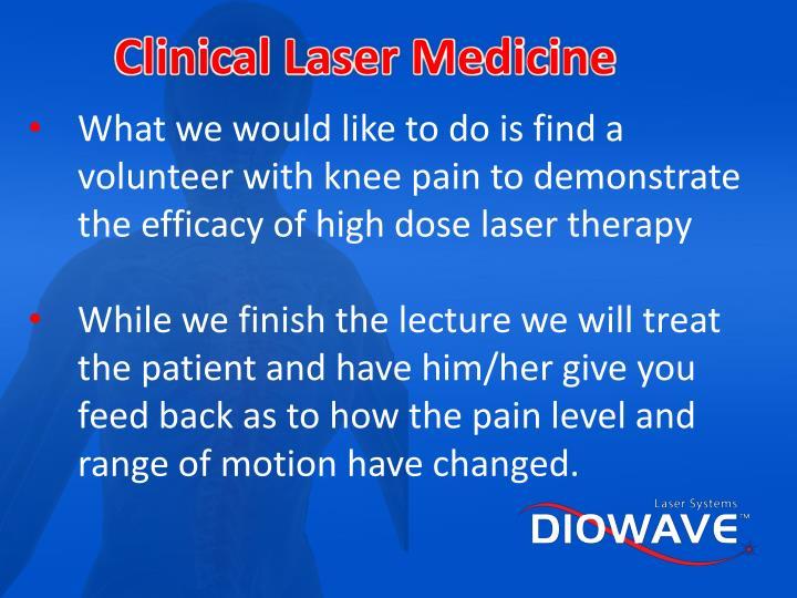 Clinical Laser Medicine