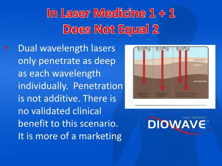 In Laser Medicine 1 + 1