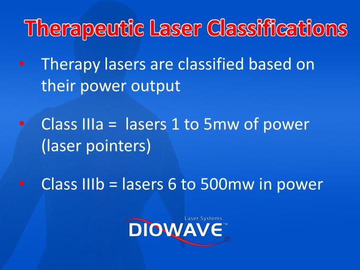 Therapeutic Laser Classifications