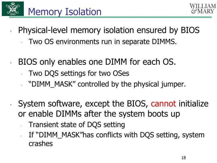 Memory Isolation