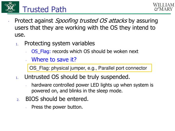 Trusted Path