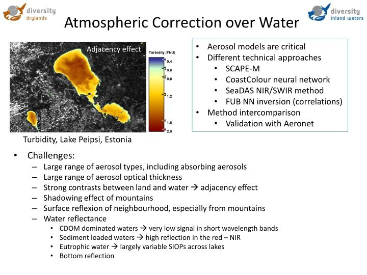 Atmospheric Correction over Water