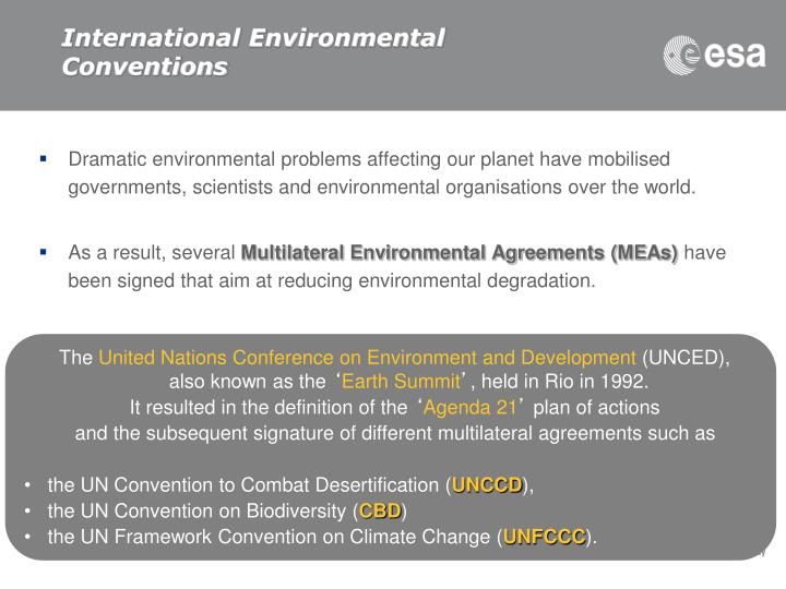 International environmental conventions