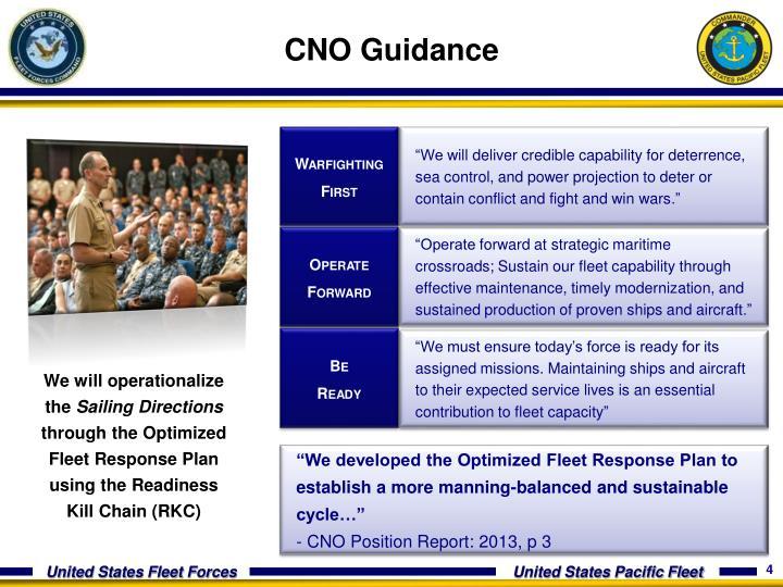 CNO Guidance